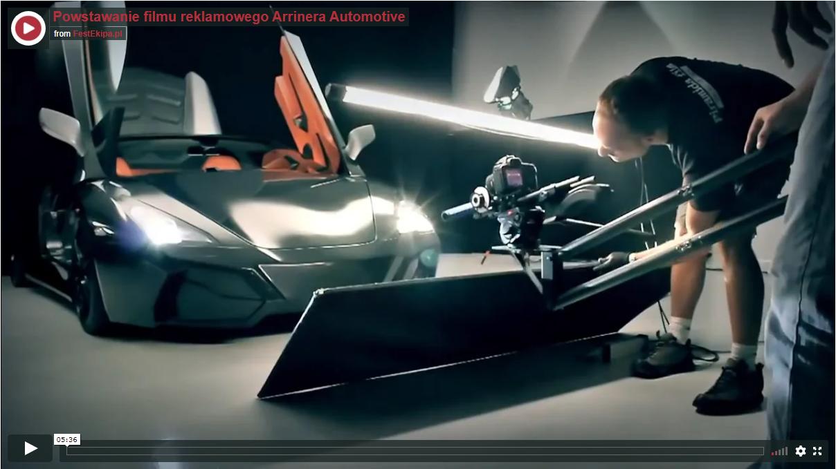 Making off - film promocyjny auta Arrinera